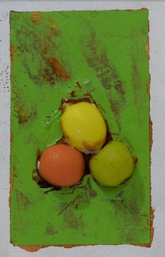 Untitled - Fruits - Original Mixed Media by Mario Schifano - 1995