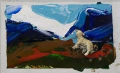 Untitled - Lamb - Original Mixed Media by Mario Schifano - 1995