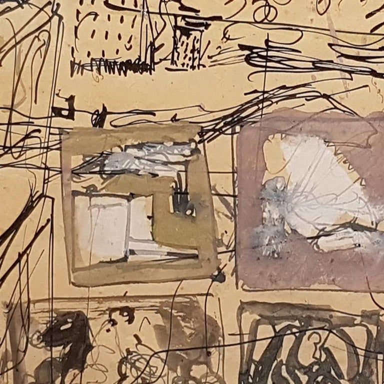 Composition - Original Mixed Media by Mario Sironi - 1937 For Sale 3