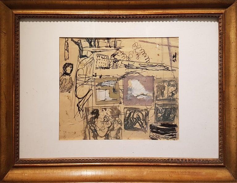 Signed lower in the center. Good conditions.  Mario Sironi (1885-1961)  Mario Sironi was an Italian modernist painter, sculptor, illustrator and designer. He was born in Sassari, his grandfather was the architect and sculptor Ignazio Villa. Sironi