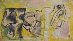 Studies for Three Figures - Italian art, Composition, Futurism, Watercolour