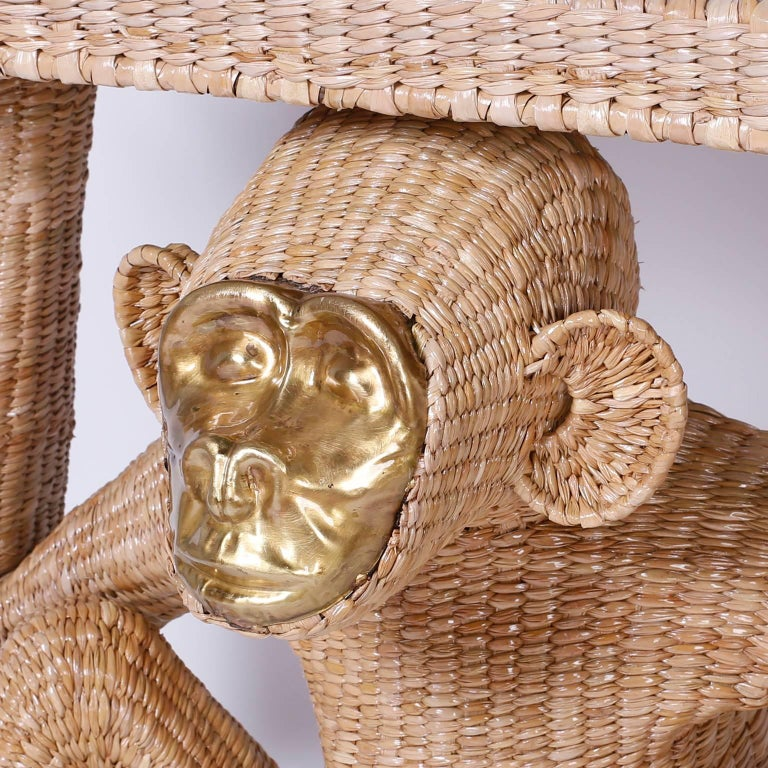 20th Century Mario Torres Brass Face Monkey Console