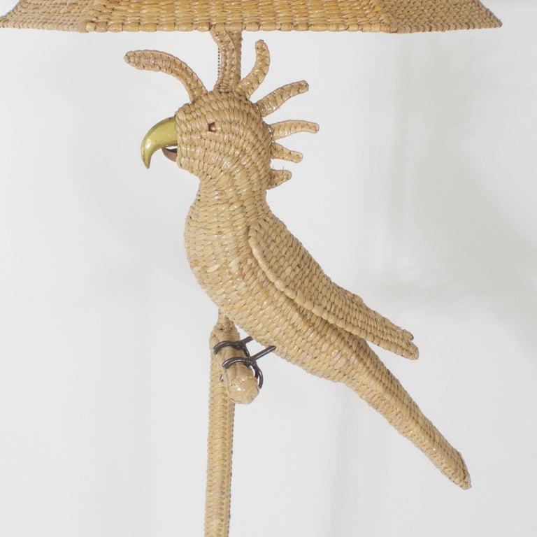 Mexican Mario Torres Cockatoo Floor Lamp For Sale