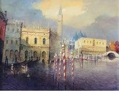 Venetian view, Gondola,