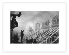 Director Tinto Brass on the set of Caligula, film set photograph by Mario Tursi
