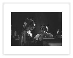 Helen Mirren & Caligula director Tinto Brass, Film set photograph by Mario Tursi