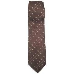 Mario Valentino brown silk tie