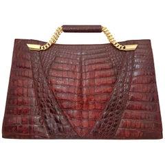 Mario Valentino Handbag/Documents-bag  in Wild Crocodile Skin. Great conditions