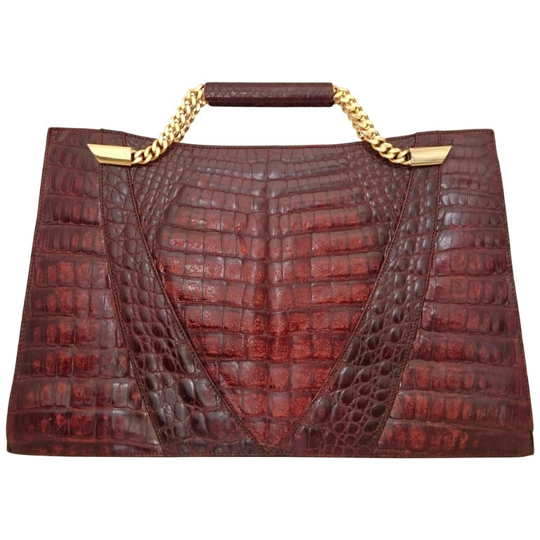 005ab49ed7f Mario Valentino Handbag Doents Bag In Wild Crocodile Skin Great