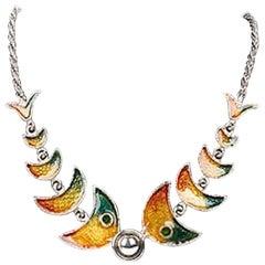 Mario Valentino per Bijoux Cascio 1970s Fish Necklace