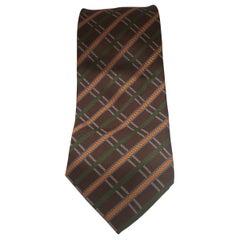 Mario Valli brown multicoloured tie