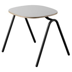 Mariolina Coffee Table in London Gray Fenix Top with Anthracite Legs by E-GGS