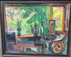 American Impressionist Interior of the artists studio