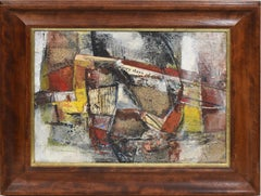 Antique American Abstract Expressionist Cubist Composition by Marion Huse
