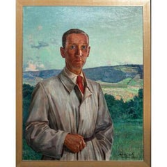 Portrait of a Gentleman, Dated 1943 - By Marion Mroz (1892-1976)