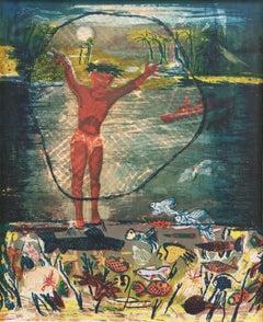 'Fisherman', California Woman Artist, SFMOMA, Cleveland Museum, Metropolitan