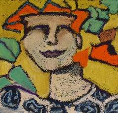 I am Who I am (Oil Pastel Portrait of a Male Figure)