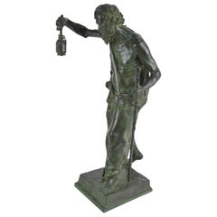 Marioton Claudius Bronze Statue of Diogenes Colin Paris Foundry
