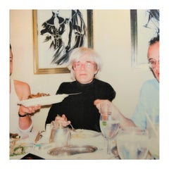 """""""Keith, Andy and Martin"""" Square Polaroid SX-70 Photograph Printed on Canvas"""