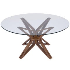 Mariposa Brazilian Contemporary Wood Dining Table by Lattoog