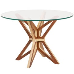 Mariposa Brazilian Contemporary Wood Side Table by Lattoog