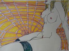 Le Soleil. 2018. Paper, mixed media, 38x50 cm