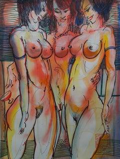 Nymphets. 2018. Paper, mixed media, 38x50 cm