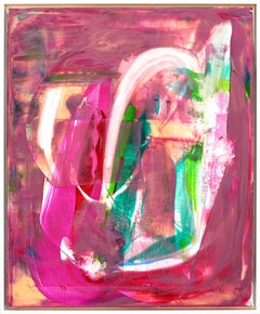 A Colourful Seduction acrylic paint signed canvas abstract art investment pink