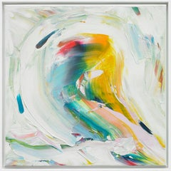 Abstract acrylic painting, Marit Geraldine Bostad, Wait For Me II