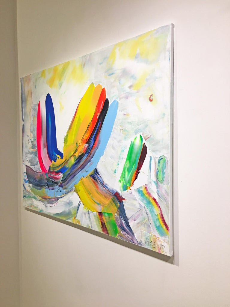 In Dialogue (Made In New York series) - Abstract Expressionist Painting by Marit Geraldine Bostad