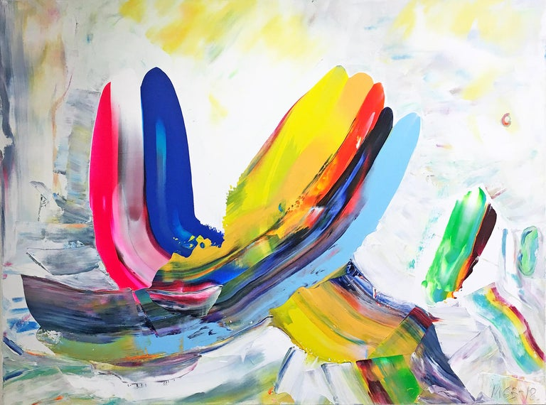 Marit Geraldine Bostad Abstract Painting - In Dialogue (Made In New York series)