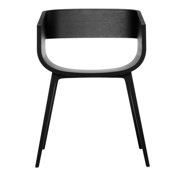 Maritime Black Oak Chair by Benjamin Hubert In New Condition For Sale In Milan, IT