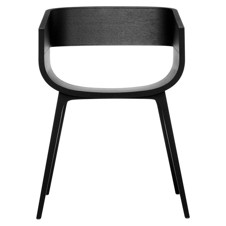 Maritime Black Oak Chair by Benjamin Hubert For Sale