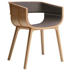 Maritime Gray Leather Chair by Benjamin Hubert
