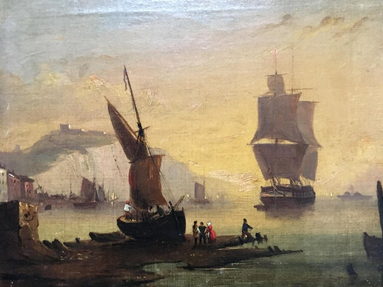 Oiled Maritime Oil on Canvas For Sale