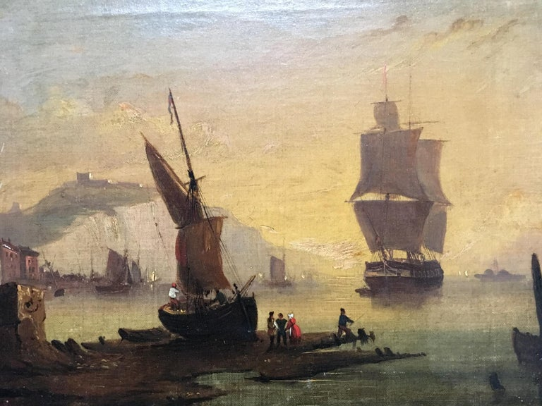 Maritime Oil on Canvas In Good Condition For Sale In Cypress, CA