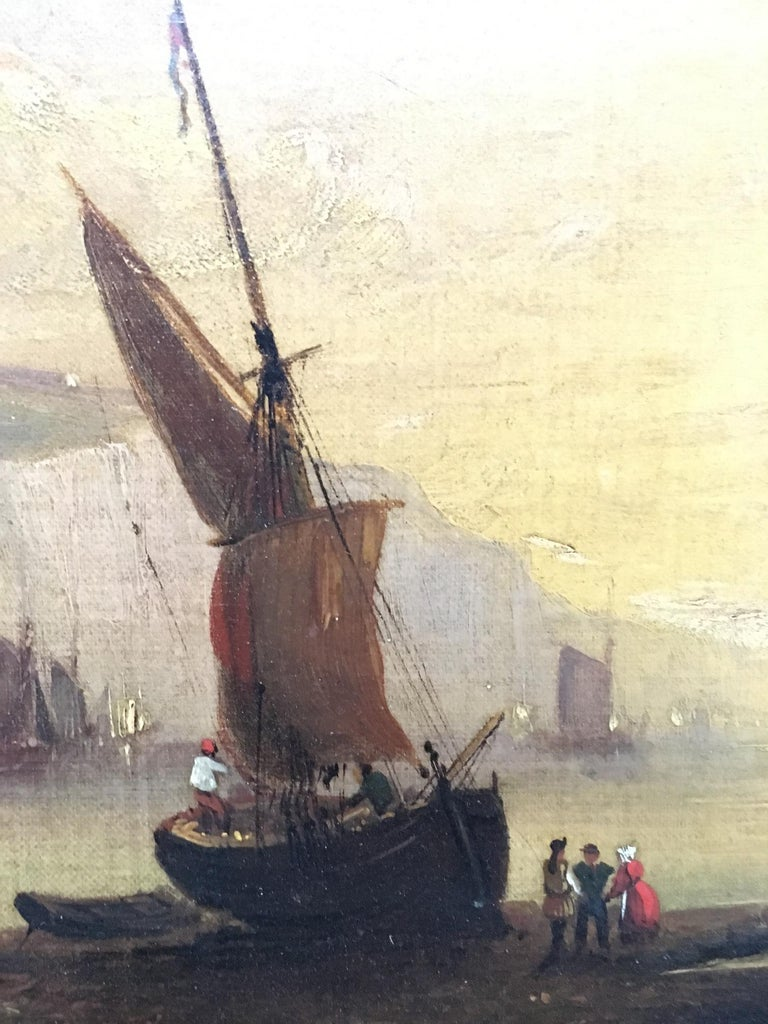 20th Century Maritime Oil on Canvas For Sale