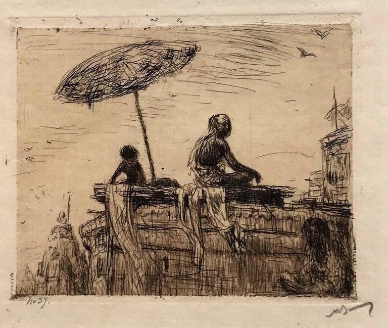 Evening at Benares - Print by Marius Bauer