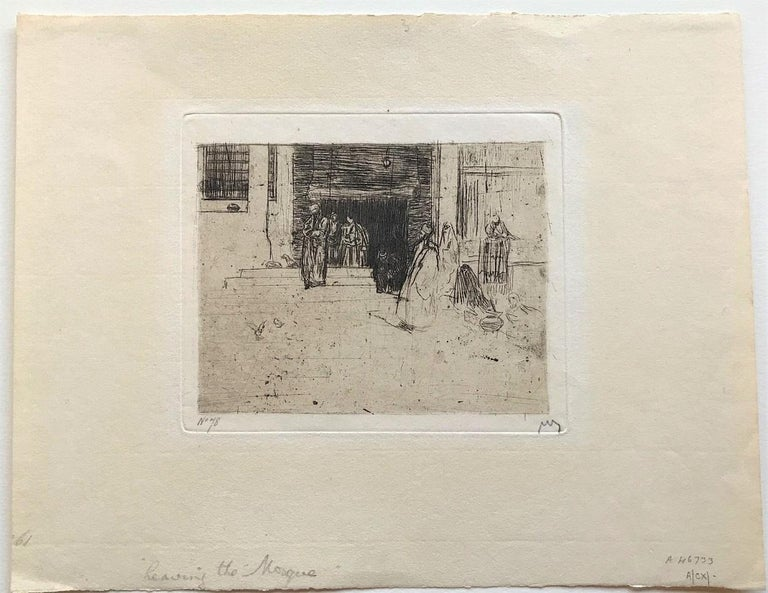 Leaving the Mosque - Print by Marius Bauer