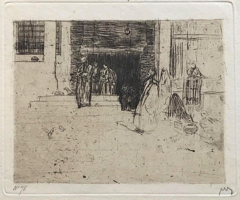 Leaving the Mosque - Modern Print by Marius Bauer