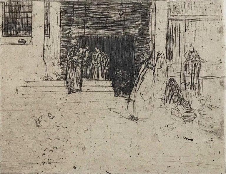 Marius Bauer Portrait Print - Leaving the Mosque