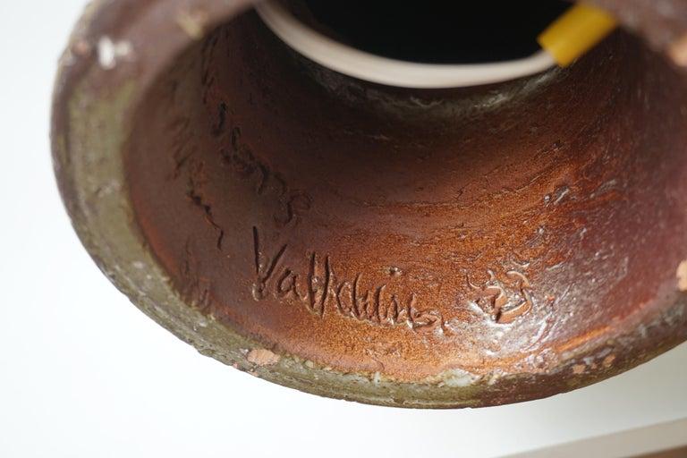 Marius Bessone Ceramic Owl Lamp Vallauris For Sale 7