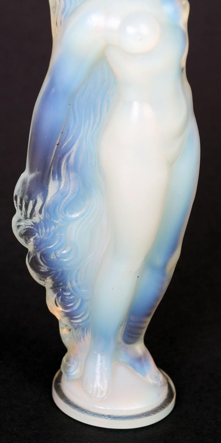 Marius Ernest Sabino French Art Deco Opalescent Glass Nude Figure For Sale 10