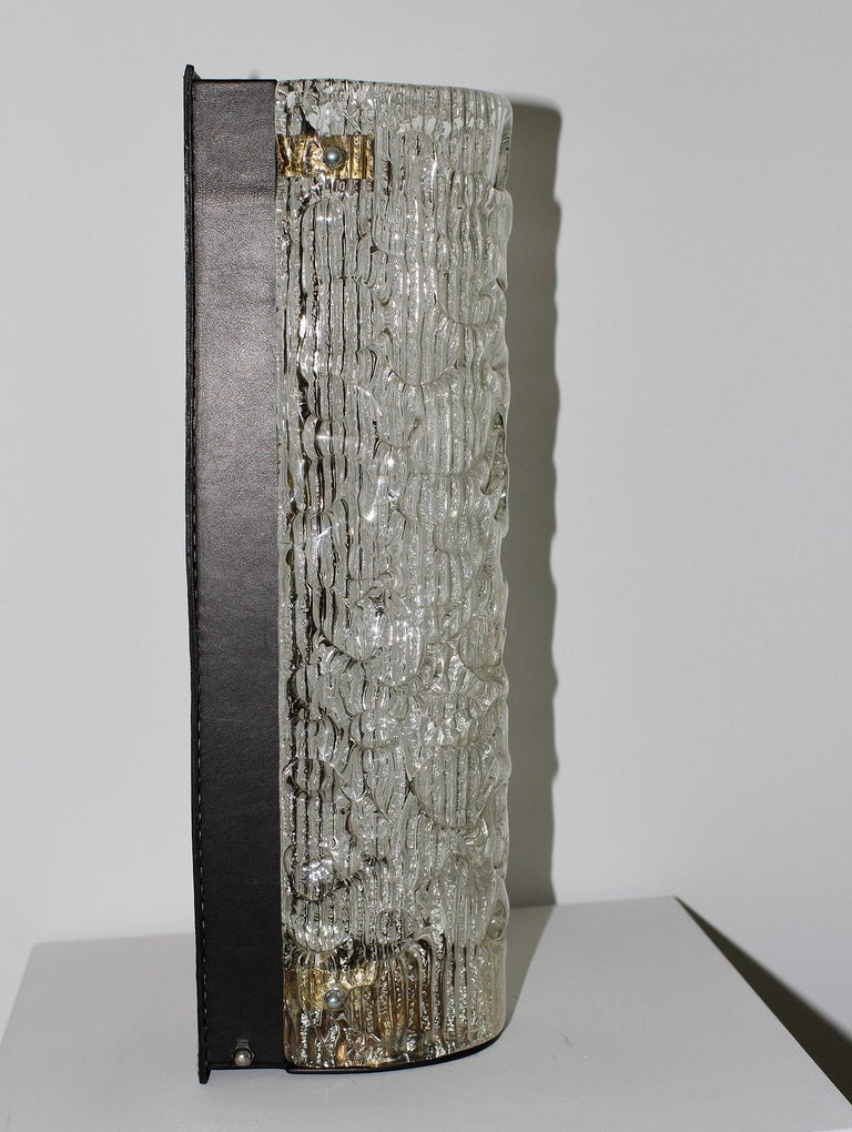 Marius Ernest Sabino & Jacques Adnet 'Attributed' Sconce In Good Condition For Sale In Encino, CA