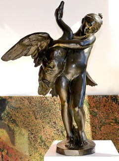 Nude Girl and Swan Bronze