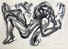 Icarus I, Expressionistic Abstract, Hand Drawn Lithographh