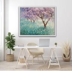 Mariusz Kaldowski, Cherry Trees, Original Contemporary Impressionist Painting