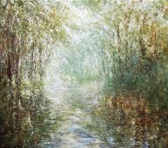 Mariusz Kaldowski, Forest River, Original Painting, Landscape Art, Art Online