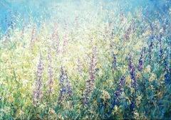 Mariusz Kaldowski, Lupin, Original Floral Painting, Affordable Art, Art Online