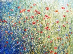 Mariusz Kaldowski, Poppies, Original Floral Painting, Landscape Art, Art Online